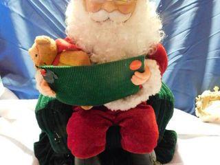 Plush Santa Reaing the night before Christmas