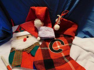 lot of Stockings and Santa Hat