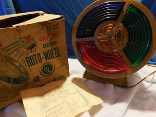 Vintage Colortine Electric Roto Color Wheel