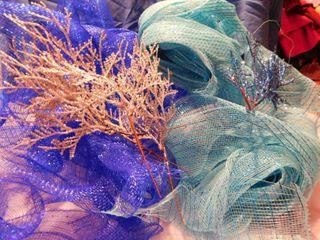 Blue   Aqua Blue Decorating Netting