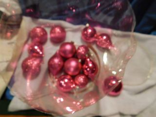 Pink   Glittery Chirstmas Ornaments