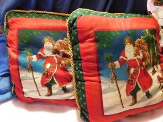 2 Matching Christmas Pillows