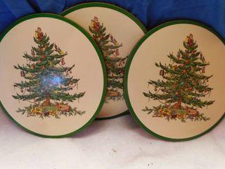 Spode Christmas Tree Trivets  3