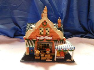 Porcelain lighted Christmas Grocery Store