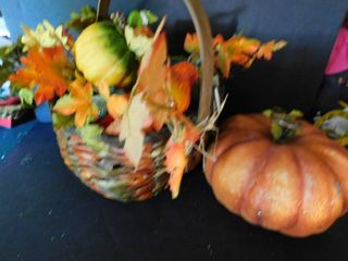 Basket With Fall Gourds   Pumpkins