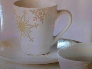 Pfaltzgraff Snowflake White Dishes NEW