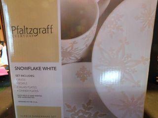 Pfaltzgraff Set of Snowflake White Dishes NEW