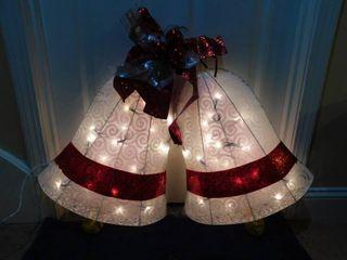 light Up Bells Yard Ornament