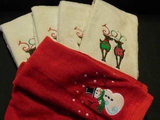 Snowmen   Reindeer Holiday Towels