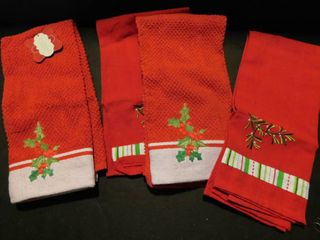 Red   Green Holiday Towels