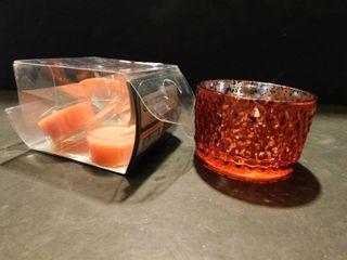 Orange Candle Holder   Tealights