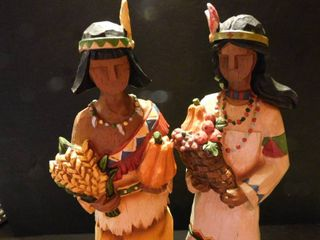 Thanksgiving Indian Statues Figurines