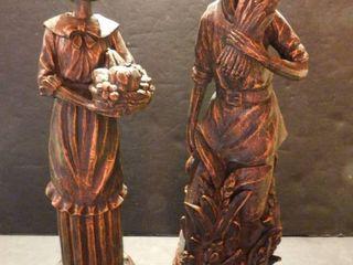 Bronze look Pilgram Figurines