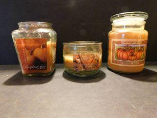 3 Jar Candles  used