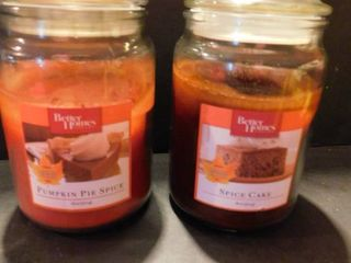 2 Jar Candles  used