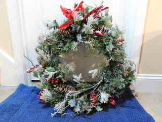 Traditional Frosted Christmas Wreath  28