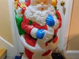 43  Plastic Santa Decoration