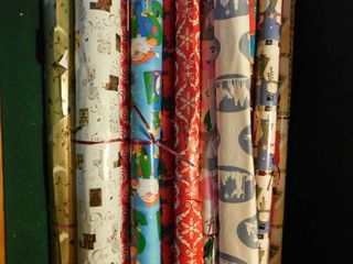 large lot of Christmas Wrapping Paper