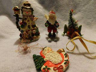Set of 4 Ceramic Ornaments