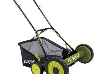 Sun Joe Manual Reel Mower w  Grass Catcher