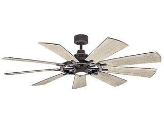 Kichler Gentry 9 Blade Indoor Outdoor Dc Motor Ceiling Fan