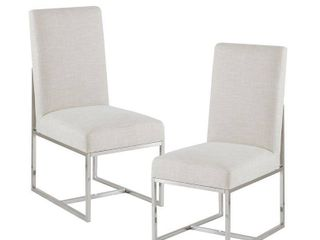 Madison Park Miyu Natural Dining Chairs   Set of 2