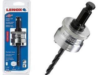 lenox Tools Snap Back Arbor w  Pilot Drill Bit for Hole Saws