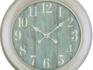 Nautical Wood Grain Wall Clock
