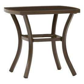 Garden Treasures Valleydale Square Steel End Table