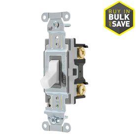 Hubbell 20AMP Single Pole 3 Way light Switch