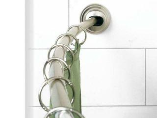 Zenna Home Single Curve Shower Rod  amp  Bathroom Towel Holder
