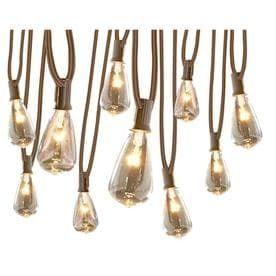 allen   roth Clear Plug In Edison String lights