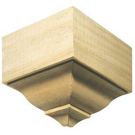 EverTrue Stain Grade Whitewood Inside Corner Crown Moulding Block   8 Pack