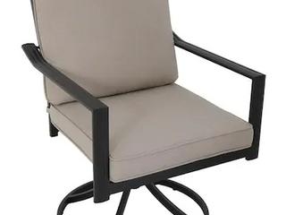 Glenn Hill Swivel Chair w  Seat Cushion and Pillow