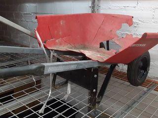 DAMAGED Red Wheelbarrow
