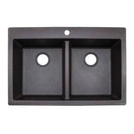 Double Basin Granite Drop in or Undermount Sink
