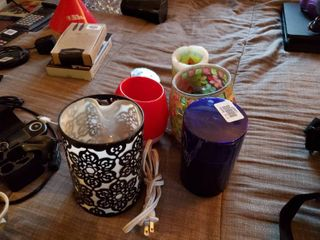 lot of Candles and Candle Warmer