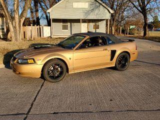 2000 Sunburst Gold Ford Mustang 2 Door Convertible