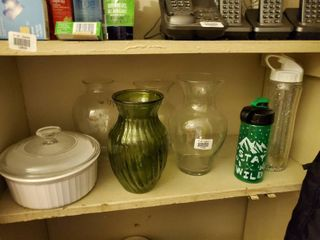 lot of Assorted Dishware and Vases