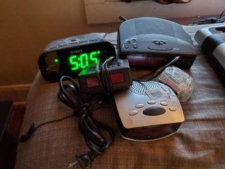 lot of 3 Digital Alarm Clocks