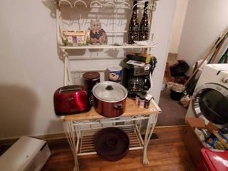 lot of Misc  Kitchen Appliance and Decor  Shelf not Included