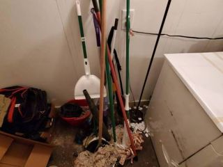 lot of Mops and Brooms
