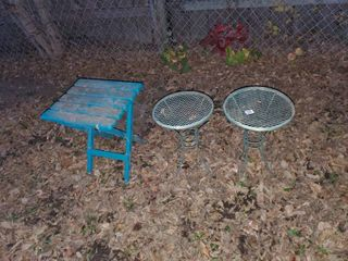 lot of 3 Outdoor Side Tables