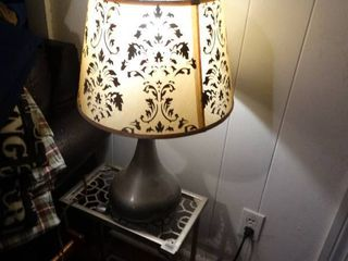 Silver lamp and Side Table