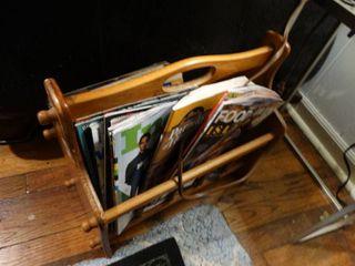 Wooden Magazine Holder