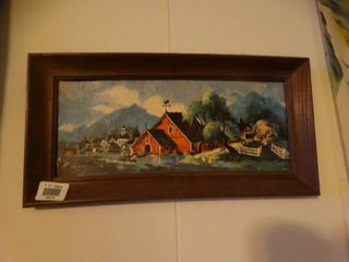 lot of 3 Signed Pieces of Wall Art