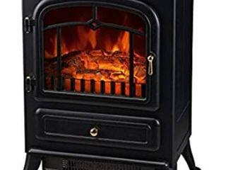 HomCom 21 H 1500 Watt Compact Free Standing Electric Fireplace Heater