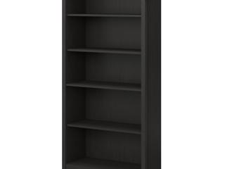 Bush Furniture Salinas 5 Shelf Bookcase in Vintage Black
