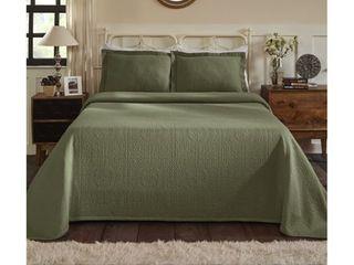 Superior Jacquard Matelasse Fleur de lis Bedspread Set  Retail 81 99