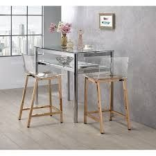 Silver Orchid Svendsen Clear Acrylic Counter Stool  Set of 2  Retail 343 49